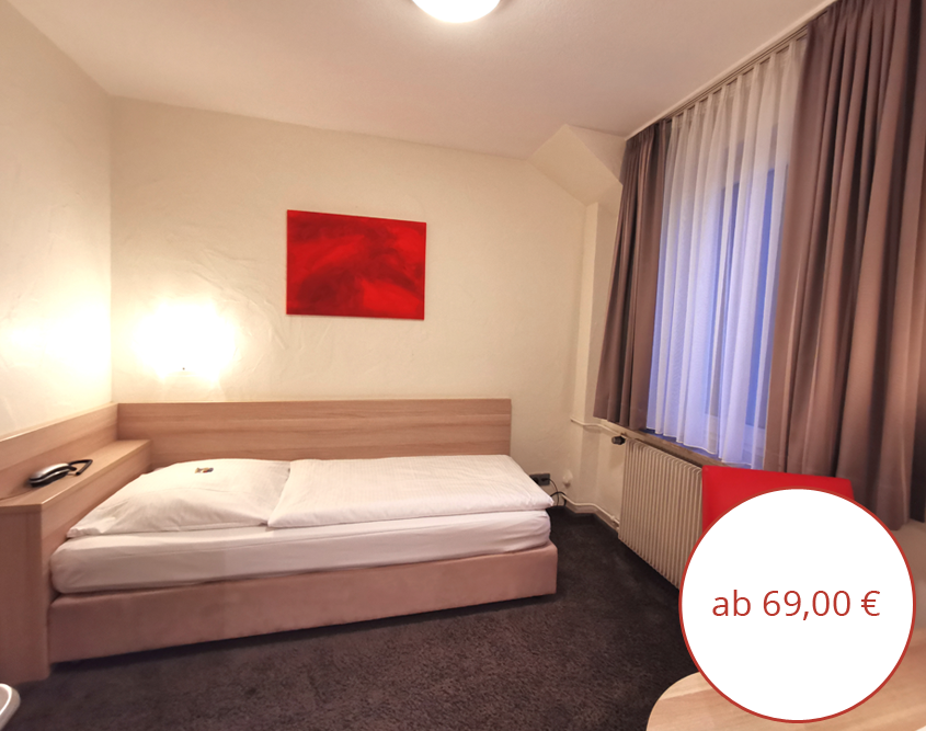 Kleines Einzelzimmer Hotel Wanner in Böblingen Zentrales Business Hotel