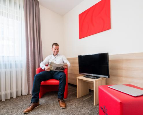 Zimmer Wohnbereich Hotel Wanner in Böblingen Zentrales Business Hotel
